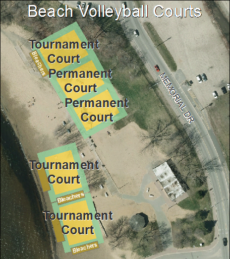 Map of Volleyball Courts